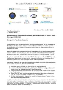 Offener Brief an die Bundeskanzlerin Frau Dr. Angela Merkel